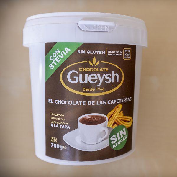 Chocolate Gueysh a la taza sin azúcar con stevia 700 g.